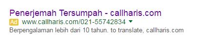 Iklan CH di google