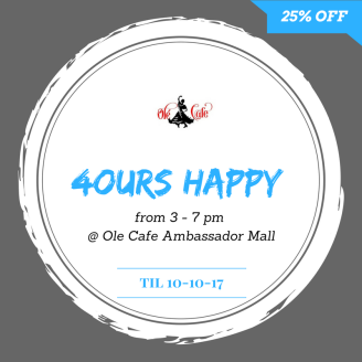 happy hour olecafe